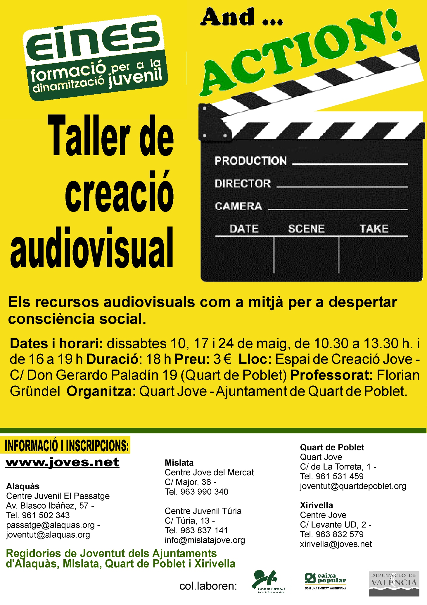 "Taller de creació audiovisual ""and…..."